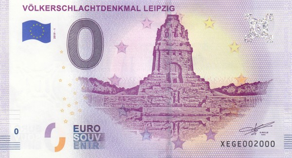 0-Euro Schein Völkerschlachtdenkmal Leipzig