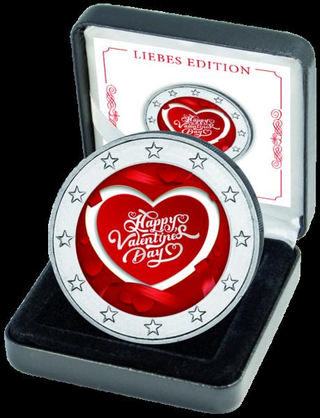 2-Euro Münze Valentinstag